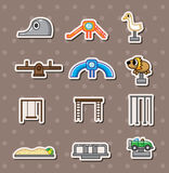 Cartoon park playground stickers Stock Images