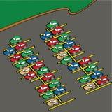 Cartoon parking lot Royalty Free Stock Images