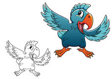 Cartoon parrot Stock Photo