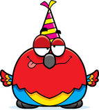 Cartoon Parrot Drunk Party Royalty Free Stock Images