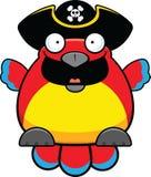 Cartoon Parrot Happy Royalty Free Stock Photo