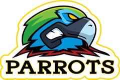 Cartoon Parrot Mascot Stock Photography