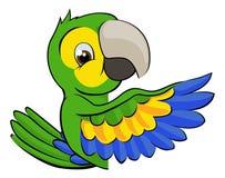 Cartoon Parrot Pointing Around Sign Stock Image