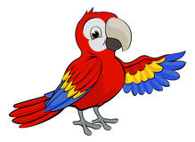 Cartoon Parrot Royalty Free Stock Images