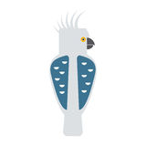 Cartoon parrot vector Royalty Free Stock Image