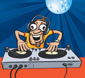 Cartoon party DJ. Vector illustration of Cartoon party DJ. Easy-edit layered vector EPS10 file scalable to any size without quality loss Stock Photography