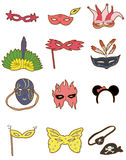 Cartoon party mask icon. Vector drawing Royalty Free Stock Photos