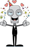 Cartoon Party Robot Hug Stock Photo
