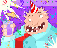 Cartoon Party Toast Royalty Free Stock Images