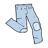 Cartoon patched old jeans Stock Image