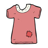 Cartoon patched old tee shirt Stock Image