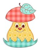 Cartoon patchwork mushroom 1 Stock Photography