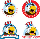 Cartoon Patriotic Bald Eagle Graphic Royalty Free Stock Images