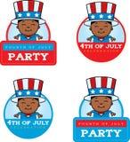 Cartoon Patriotic Boy Graphic Royalty Free Stock Photo