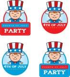 Cartoon Patriotic Boy Graphic Royalty Free Stock Images