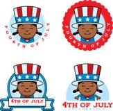 Cartoon Patriotic Girl Graphic Royalty Free Stock Photo
