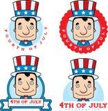 Cartoon Patriotic Man Graphic Royalty Free Stock Images