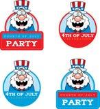 Cartoon Patriotic Man Graphic Stock Images