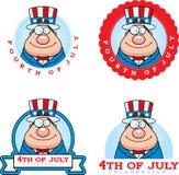 Cartoon Patriotic Man Graphic Stock Photography