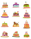 Cartoon pattern cake icon. Vector drawing Stock Photography