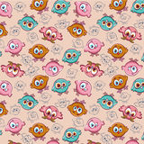 Cartoon pattern with chicken. Stock Photography