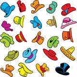 Cartoon pattern with hats Royalty Free Stock Image