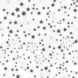 Cartoon pattern star Stock Images