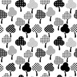 Cartoon patterned trees Stock Photography