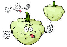 Cartoon pattypan squash vegetable character Royalty Free Stock Image