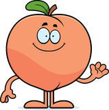 Cartoon Peach Waving Stock Images