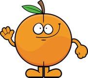 Cartoon Peach Waving Stock Photos
