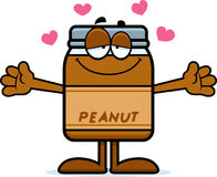 Cartoon Peanut Butter Hug Royalty Free Stock Image