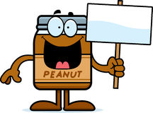 Cartoon Peanut Butter Sign Stock Images