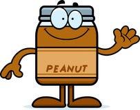 Cartoon Peanut Butter Waving Stock Image