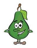 Cartoon pear characacter Royalty Free Stock Photo