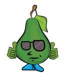 Cartoon pear characacter Royalty Free Stock Image