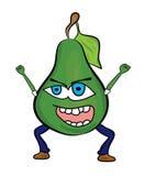 Cartoon pear characacter Royalty Free Stock Photos