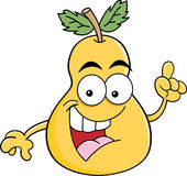 Cartoon pear with an idea Royalty Free Stock Image
