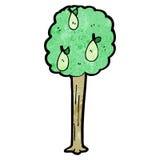 Cartoon pear tree Stock Images