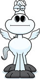 Cartoon Pegasus Bored Royalty Free Stock Photography