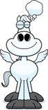 Cartoon Pegasus Dreaming Stock Image