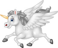 Cartoon Pegasus isolated on white background Stock Image