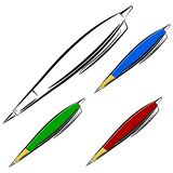 Cartoon pen. eps10 Stock Image