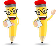 Cartoon pencil character Royalty Free Stock Photography