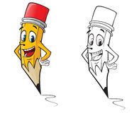 Cartoon pencil Royalty Free Stock Images