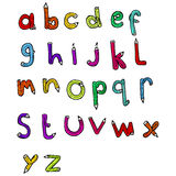 cartoon pencil shaped alphabet Stock Photos