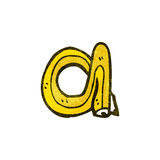 cartoon pencil shaped letter a Stock Photography