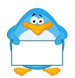 Cartoon penguin with baner Stock Photo