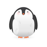 Cartoon penguin character. Funny bird. Royalty Free Stock Photography