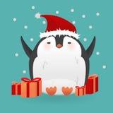 Cartoon penguin character. Funny bird. Stock Photos